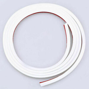 Car Door Edge Scratch Protector Pad Seal Guard Rubber Strip Moulding Trim White