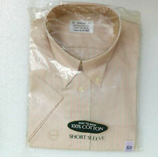 M&S striped shirt 17 Button-down collar Short sleeve Pink Vintage 1990s UNUSED