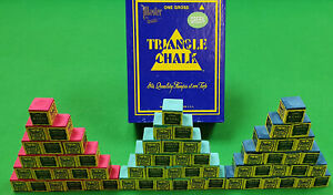 Triangle Snooker Pool Billiard Cue Chalk Green, Red, Blue Any Amount By Tweeten