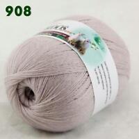 Sale 1 ball LACE Soft Crochet Acrylic Wool Cashmere Wrap Hand Knitting Yarn 08