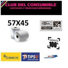 PACK 10 ROLLOS DE PAPEL TERMICO IMPRESORA TICKETS 57X45X11 MM