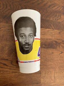 Chuck Foreman Vintage MSA NFL Plastic Slurpee Cup 14 Oz. Minnesota Vikings