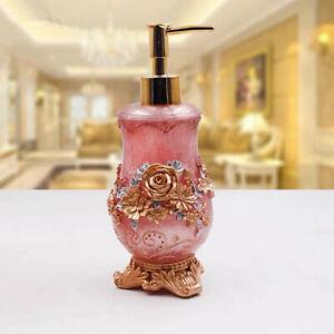 New Soap Lotion Dispenser Bathroom Accessory Resin Shower Gel Holder Blue/Pink