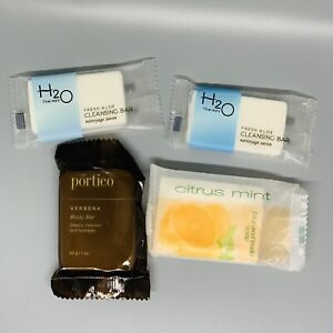 H2O Therapy Fresh Aloe Cleansing Soap+Portico Body Bar+Citrus Mint FaceBody Soap