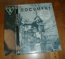 """R.E.M. rem Orig 1987 """"Document"""" LP SEALED w The One I Love SONG STICKER NM-"""