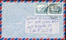 619 CHILE TO US AIR MAIL COVER 1967 COYHAIQUE - LOS ANGELES, CA
