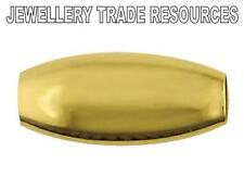 De 9 quilates de oro amarillo 3 Mm X 5 Mm hueco Perla oval de la fabricación de joyas Beads