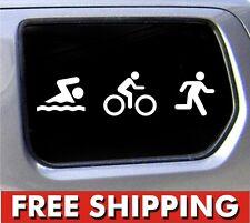 Triathlon Decal Swim Bike Run Bumper Sticker Car window ironman decal *
