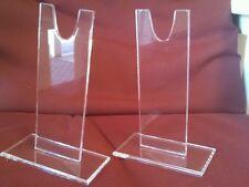 "3 sets Standard Grade 7"" ""V"" Acrylic Sword Blade & Bowie Knife Display stand"