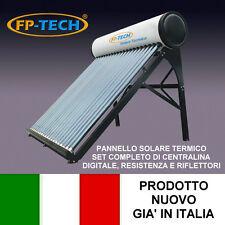PANNELLO SOLARE TERMICO ACQUA CALDA ACCIAIO INOX 90 LT TUBI SOTTOVUOTO NATURALE