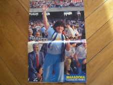 MARADONA ARRIVO A NAPOLI POSTER RIVISTA GENTE 1984
