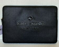 "New Kate Spade new York Sienne Laptop sleeve case up to 15"" inside Leather Black"