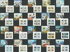 ML427-431,653-667 2014 MALDIVES FAUNA BIRDS OWLS MARINE LIFE 20KB+20BL MNH