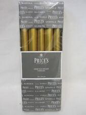 """Los nuevos precios de oro metálico Cera 10"""" Velas De Cena veneciano tiempo de consumo 7 H Pk10"""