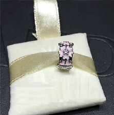 Original Pandora Clip Rosafarbene Primel Silber Clip Bead 791823EN68 NEU