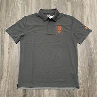 NEW Under Armour SF Giants Polo Shirt Mens Medium Grey Golf $5