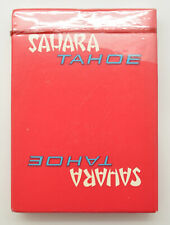 Rare New Casino Playing Cards - Sahara Tahoe Casino Sealed Red Deck
