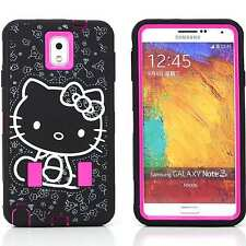 Hybrid Case for Samsung Note 3 Cover Pink Skin PC Hello Kitty Shockproof