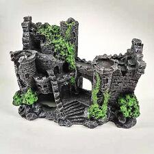 Resin Imitation House Ruins Castle Aquarium Ornament Fish Tank Landscap Decor