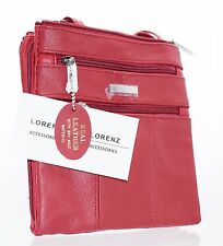 Ladies Genuine Leather Crossbody Bag/Shoulder Bag 3 Separate Zippe Compartments