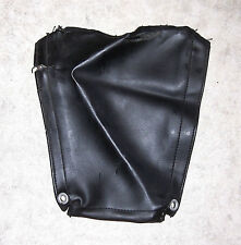 1970s VINTAGE PUCH 125/175 LEATHER ISDT SIDE PANEL COVER, ORIGINAL/GOOD (#E515)