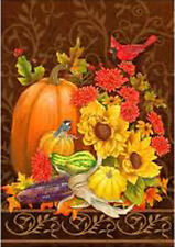 "Autumn Elegance Fall House Flag Large Yard Cardinal Decorative Banner 28"" x 40"""