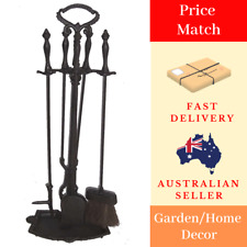 Cast Iron Fireplace Tool Set Fire Heater Flame Outdoor Garden Weather proof