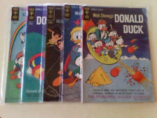 WALT DISNEY GOLD KEY DONALD DUCK X 5 FIRST ISSUE #85 AND #101 #105 #107 #116 VF+