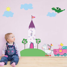 Official Princess Peppa Pig castle wall sticker pack | Official peppa Pig decor