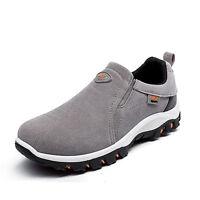 Mode Hommes Moc Chaussures De Marche Randonnée à Enfiler Outdoor Sneakers Sports