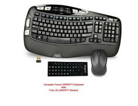 NEW Logitech K350 Wireless Multimedia Keyboard + M325 Mouse - Black / WARRANTY!