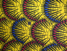 "Bold Printed Cotton Fabric Measures 60"" Wide x 1.5 Yards Long"
