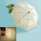 Chic Handmade Cotton Lace Parasol Umbrella Party Wedding Bridal Decoration wh2n
