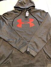NWT Under Armour Fleece® Big Logo Hoodie Sweatshirt 1345321 010 Men's 2XL (XXL)