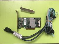LSI 9267-8i 6Gb/s PCI-E 2.0 512MB 8Port RAID0/1/10 +8087 to 4 7 Pin SATA Cable
