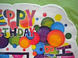 """8 SHEETS 20"""" x 20"""" """"HAPPY BIRTHDAY"""" TISSUE GIFT WRAP PAPER ~ 4 Solid 4 Printed"""