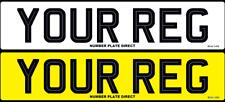 PAIR of Number Plates Hi-Line Car 100%MOT Compliant & UK Road Legal Registration