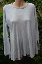 Sussan Silver Grey Marle Top Size Xl. Bead Neck Trim . Flared Hem