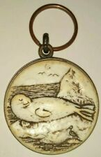 New ListingHarbor Seal Keychain Sea Shell Carved Detailed Canada Ocean Mammal Life Nature