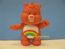 "CARE BEAR Vintage CHEER Bear Pink 3.5"" PVC ORIGINAL 1983 Posable Rainbow GUC"