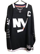 JOHN TAVARES #91 NEW YORK ISLANDERS BLACK ALTERNATE CAPTAINS RBK NHL JERSEY XL
