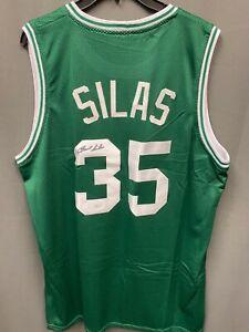 Paul Silas #35 Signed Celtics Basketball Jersey Autographed AUTO JSA COA Sz XL