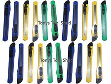 "20 pc 5.25"" BOX CUTTERs Breakaway Retractable SNAP OFF Blade Utility Knife RAZOR"