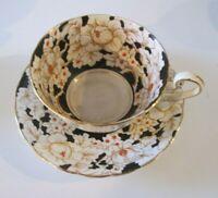 "Victoria C&E ""Peony"" Hand Painted Tea Cup & Saucer Bone China England"