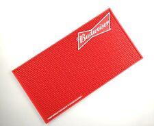 New Red Budweiser Rubber drip beer mat drink mat bar mat spill mat bar runner