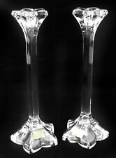 MIKASA Crystal Star Flower Candlesticks - Set of 2 - Made in Germany - NWT