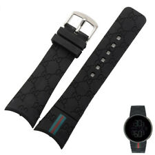 Rubber Black Replacement Watch Strap Band For (Fits) I-Gucci Digital Men's Watch