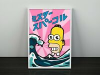 Mr Sparkle The Simpsons Print | Homer Simpson Print | The Simpsons Poster
