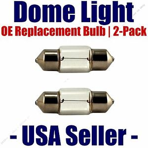 Dome Light Bulb 2-Pack OE Replacement - Fits Listed Saturn Vehicles - 6418