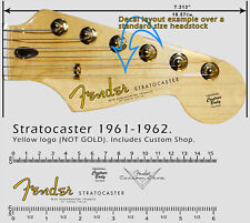Fender Stratocaster 1961-1962 (Yellow logo) + Custom Shop Waterslide Decals